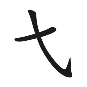 字根:(短撇與斜勾交叉)拆 x