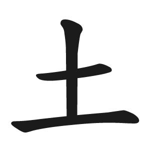 字根:土】(土地的「土」)拆 y